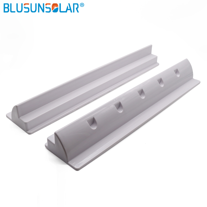 2 Piece ABS Plastic Solar Panel Mounting End Spoiler Brackets Use In Caravan Boat Motorhome 550mm 2 Color For Choose