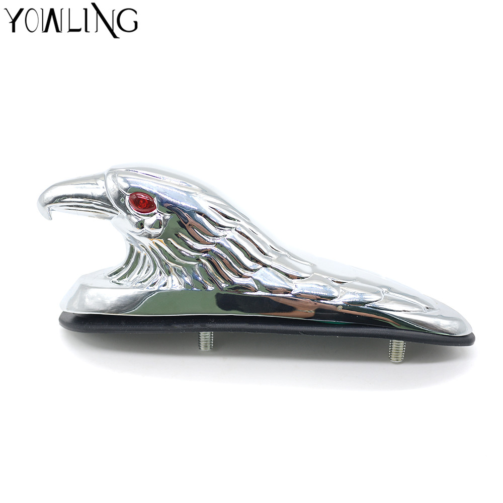 2 color motorcycle accessories chrome eagle head ornament statue for motorbike ATV front fender frames&fitting car bonnet light