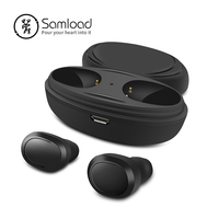 Samload T12 Bluetooth Earphones Stereo Music Headphone Wireless Earbuds CVC Nnoise Reduction Headset For iPhoneSE 5 6 7 8 Xiaomi