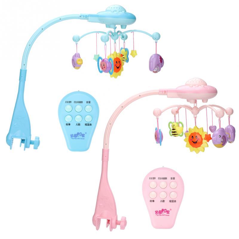Mobile musique lit cloche suspendu rotatif projetant bébé jouet éducatif nouveau-né cadeau Animal Musical berceau début d'apprentissage enfants jouet