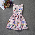 Lovely cartoon Hot Air Balloon patterns dresses character sleeveless O-neck happy girls dress A-line cute baby girl clothes