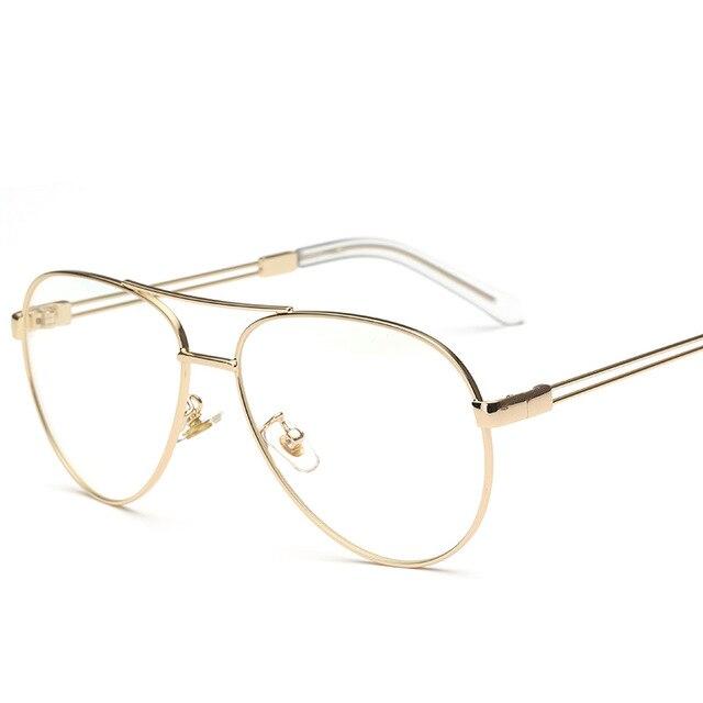 fd2c446d6 VAZÃO aviação Óculos Frames Óculos de ouro de Grandes Dimensões das  Mulheres do Sexo Feminino de