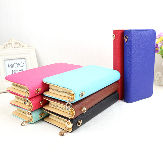 New arrival women wallet thin fashion colours fold wallet clutch purse woman long style package mail free of charge