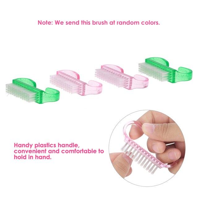4Pcs Nail Art Dust Clean Brush Plastic Nail File Scrubbing Brush ...
