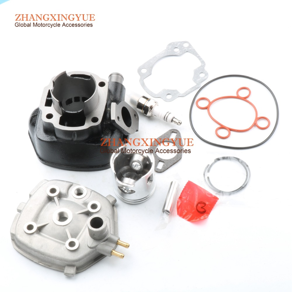 70cc Big Bore Cylinder Barrel Kit Head for MBK Nitro Mach G 50 Water cooled 2T 113cc 55mm big bore cylinder kit for mbk booster 100 nitro ovetto 100
