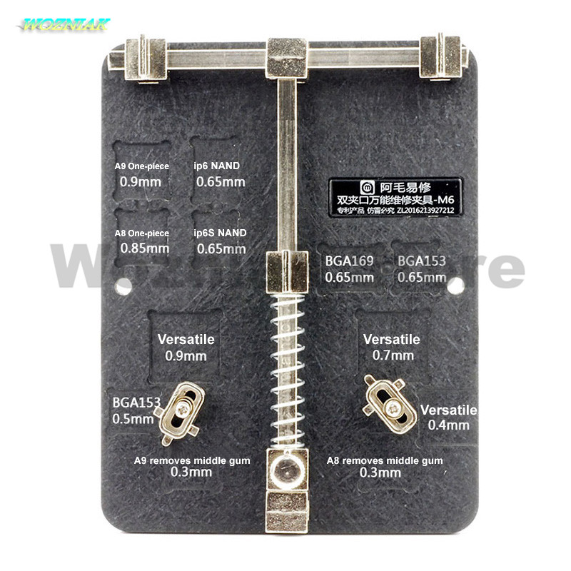 Wozniak Universal maintenance clamp IC glue removal design PCB BGA fixed fixture Suitable most motherboards for iphone samsung wozniak mobile phone maintenance clamp for iphone bga chip motherboard fixture location remove glue tin plant fixed clamp