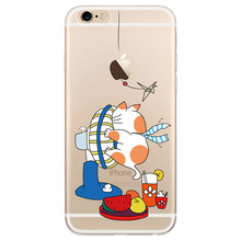 Applicable to iphone6 7 8 X XR XMAX mobile phone shell painted TPU transparent soft fan cartoon cute pet anti-fall