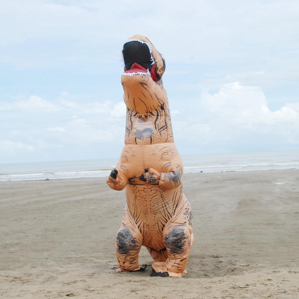 Inflable T-Rex dinosaurio  traje de fiesta juguetes al aire libre juego educativos niños 16