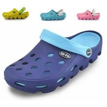 Nouveau femmes sandales trou pantoufles couple sandales mules et sabots jardin chaussures pour femmes respirant chaussures de plage