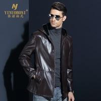 Men S Genuine Sheepskin Jacket Male Winter Hoody Jackets Men Natural Leather Brand Coat Top Quality