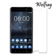 2 шт Стекло для Nokia 6 защита экрана закаленное стекло для Nokia 6 стекло для Nokia 6 TA-1021 Защитная пленка для телефона Wolfsay