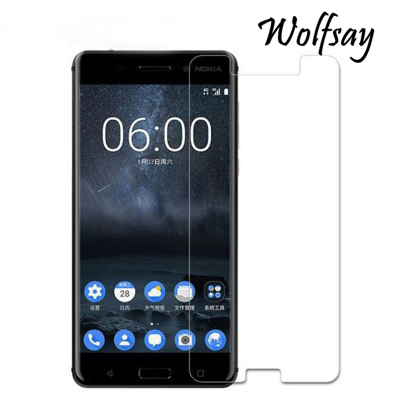 2pcs Glass SFor Nokia 6 2017 Screen Protector Tempered Glass For Nokia 6 Glass For Nokia 6 TA-1021 Phone Protective Film Wolfsay