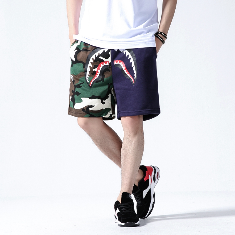 2019 Summer Cargo   Shorts   For Men Slim Fit Baggy Male   Short     Shorts   Men Brand Streetwear Shark Print Camouflage Mens   Shorts   Funny