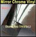 Free shipping high quality car wrap vinyl 1.52m*60cm*0.18mm car wrap black chrome with bubble free