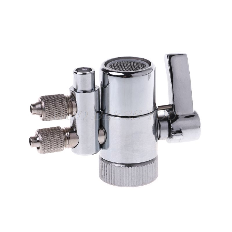 Chrome Plated Metal Faucet Aerator Dual Diverter Adapter For Water Purifier Oral Irrigator Accessories Valve Switch