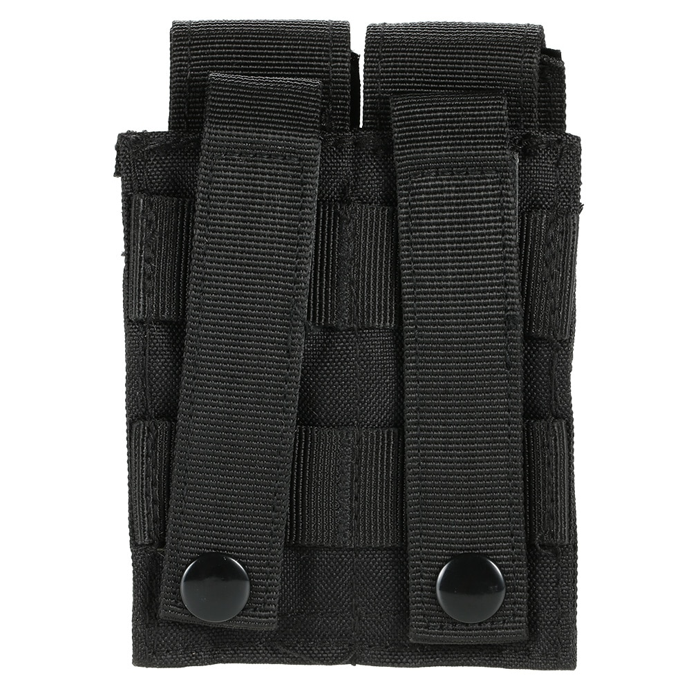 Outdoor Tactical Pistol Pouch 9mm Double Magazine Pouch Hip Waist Belt Bag 600d Oxford Fabric Compatible Gear Gadget Pouch