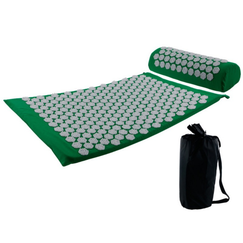 Acupressure massages mat which relieves stress and body pain including back neck and foot 2