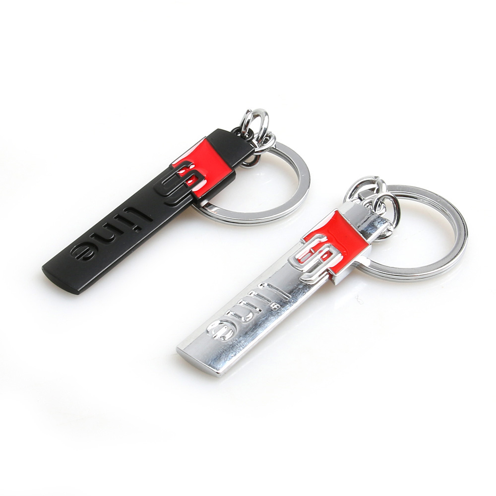 Fashion S line metal car logo key ring chain keychain keyring for audi A3 A4 A6L