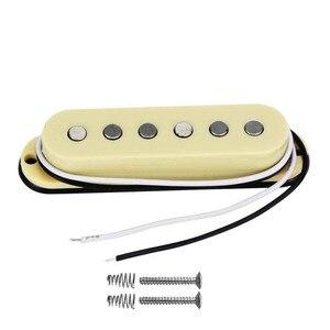 FLEOR винтажный Alnico 5 с одной катушкой Шея/средний/мостовой пикап 50/50/52 мм набор желтых для гитара FD Strat детали