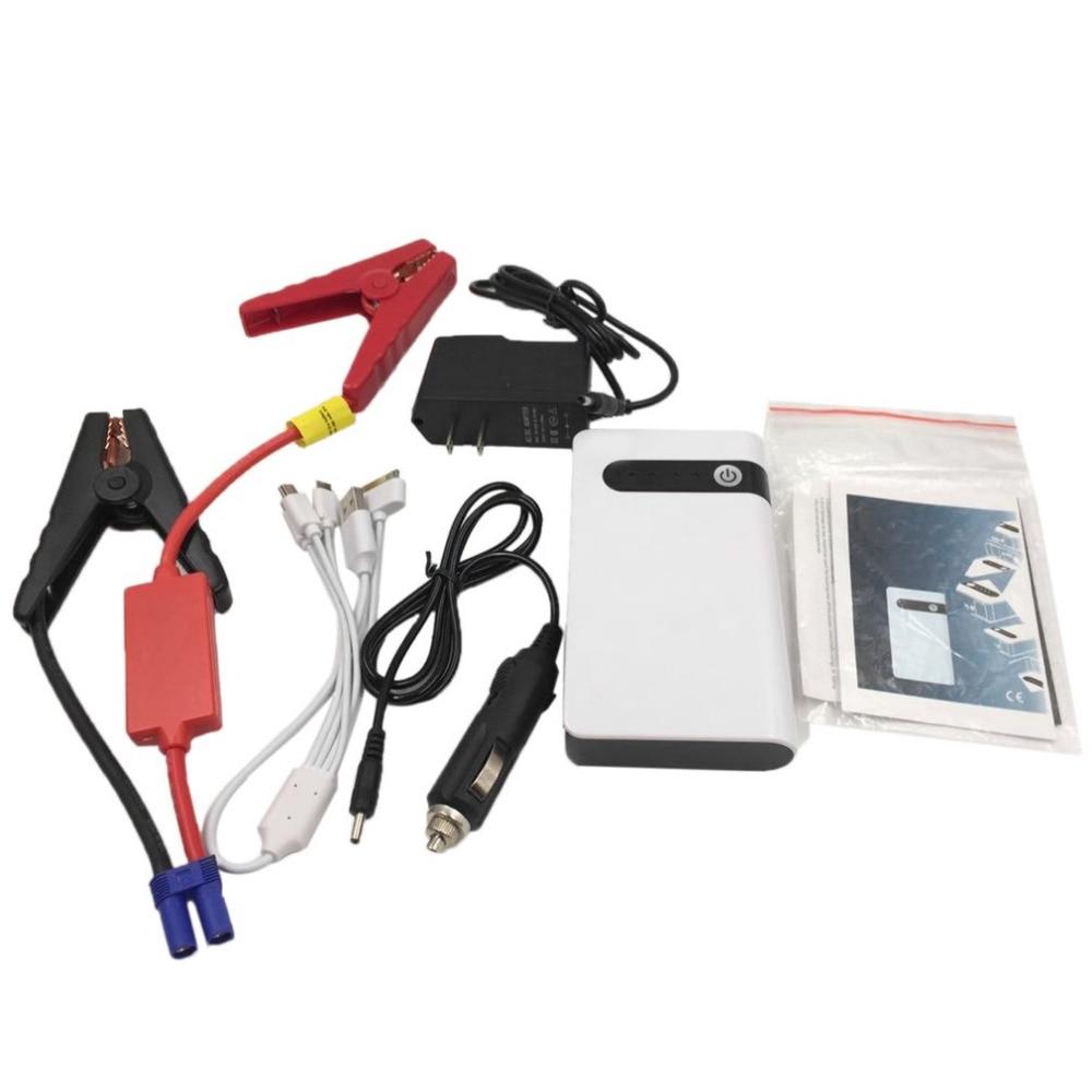 CY-17 12V Car Jump Starter 8000mAh White Power Bank Mini Multifunctional Starter Portable LED Lighting Car Accessories цена 2017