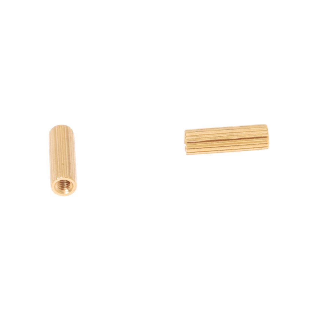 CNIM Hot 50 Pcs M2 Female Thread Cylindrical Brass Stand-off Support M2x10mm