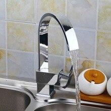 Überlegene Qualität und Angemessen im Preis Küchenarmatur Chrom Poliert Becken Wasserhahn Heißen und Kalten Wasser Swivel Mischbatterie