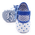 Beautiful Dot And Butterfly-Knot Design Prewalker Leather Baby Dress Shoes For Girls 0-12M