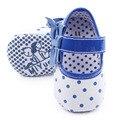 Hermosa Dot And Butterfly nudo diseño Prewalker de bebé de cuero zapatos de vestir para las niñas 0 - 12 M