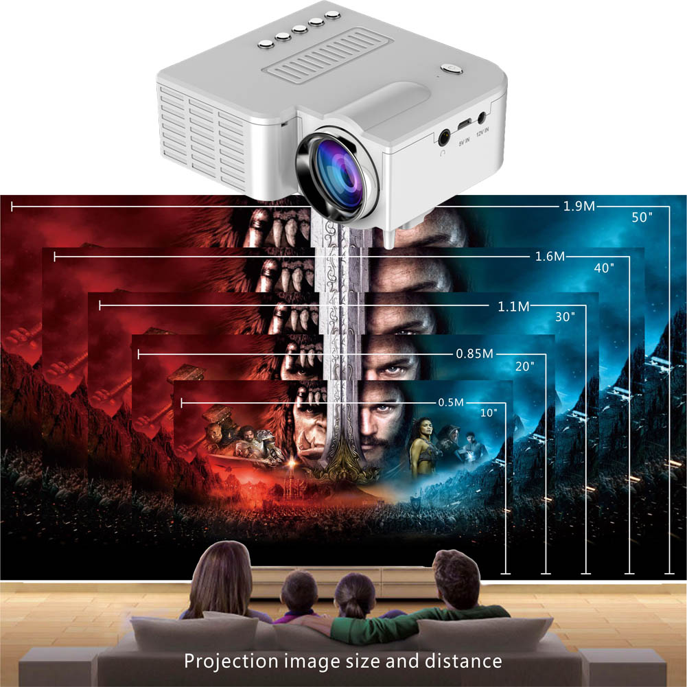 Etmakit Portatile Uc28 Pro Hdmi Mini Proiettore Led Home Cinema Theater Av Vga Usb Nk-shopping