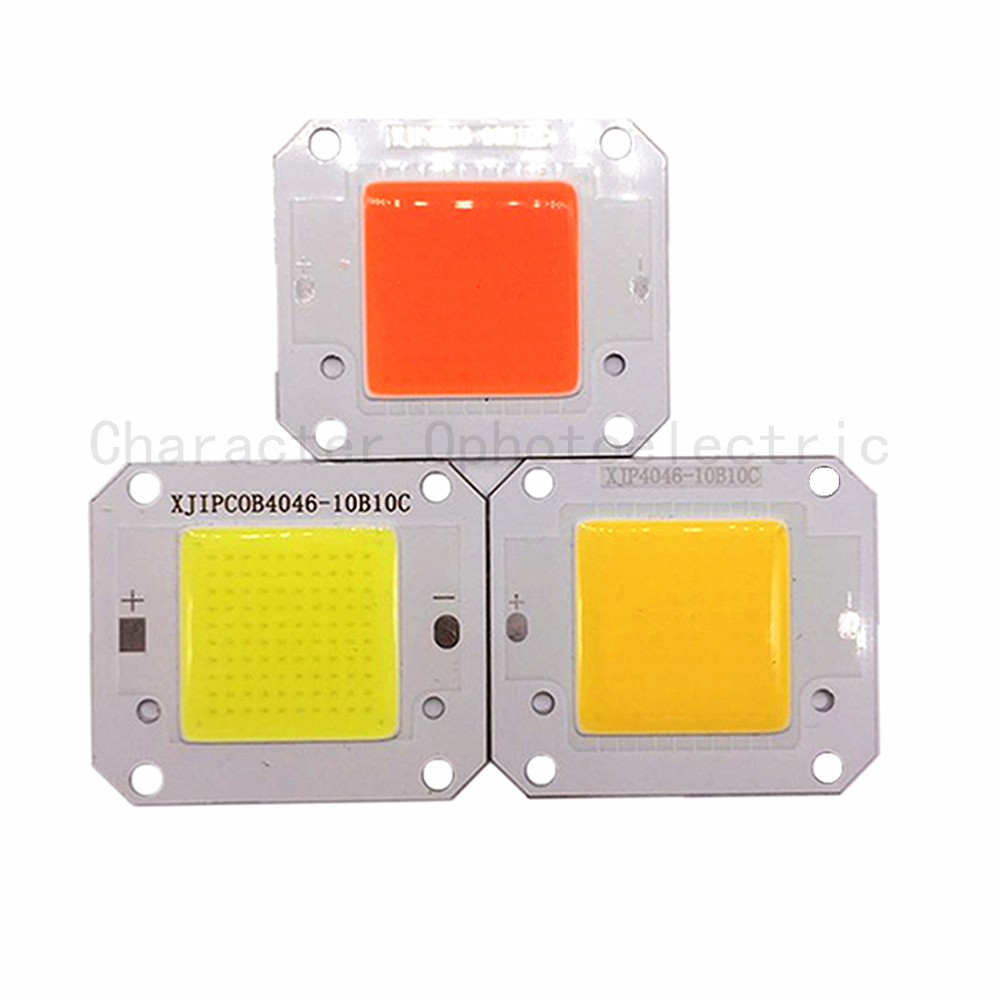 12V 50W Full 400-840NM/ Warm white /Cool white LED COB chip, Integrated Smart IC Driver High Power 12V COB LED Chip Grow light sumbulbs led integrated chip 2820 cob light source for led lamps bulbs 20mm lighting diameter warm nature cool white 20pcs