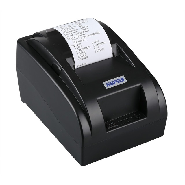 cheap 2inch Pos thermal receipt printer built in power supply support many language and one year warranty