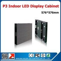 TEEHO Wholesale p3 indoor led panel screen 576*576mm standard cabinet receiving card full color led video wall rental led panel