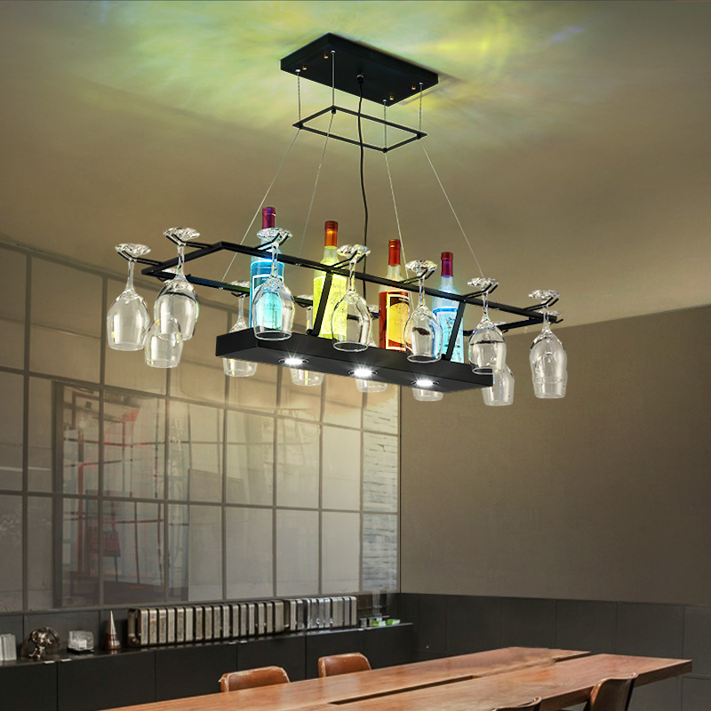 Creative Personality Bar Restaurant Wine Bottle Glass Pendant Lights Coffee Shop Club Retro Nostalgic Industrial Wind Iron lamps edison industrial vintage retro simple type flowers crystal glass droplight cafe bar club hall coffee shop bedroom bedside