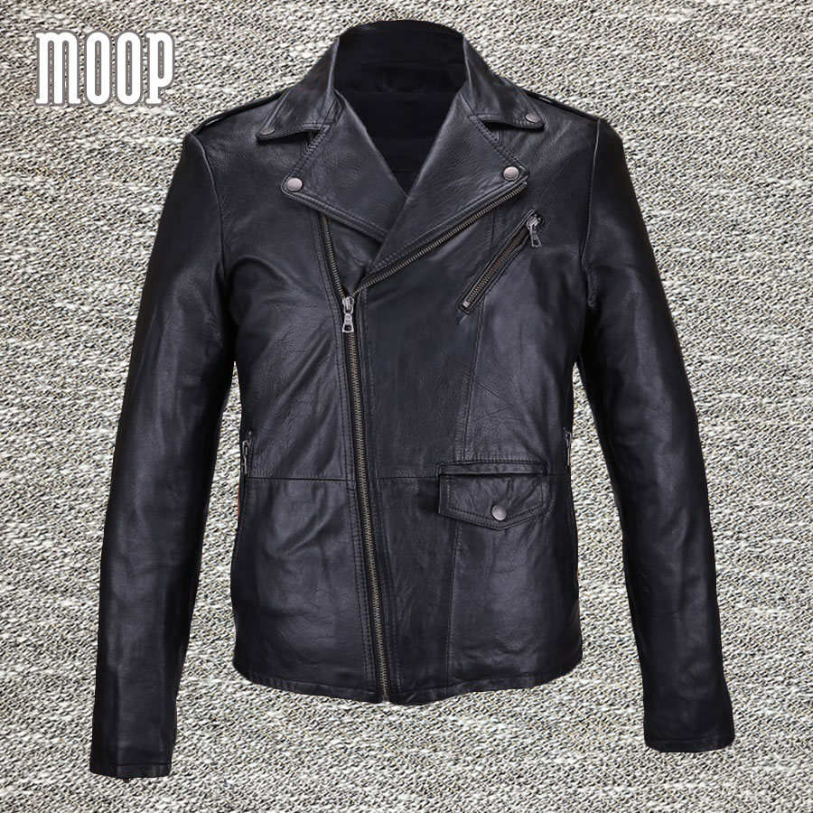 black genuine leather coat men 100 lambskin jacket real leather motorcycle jacket manteau homme. Black Bedroom Furniture Sets. Home Design Ideas