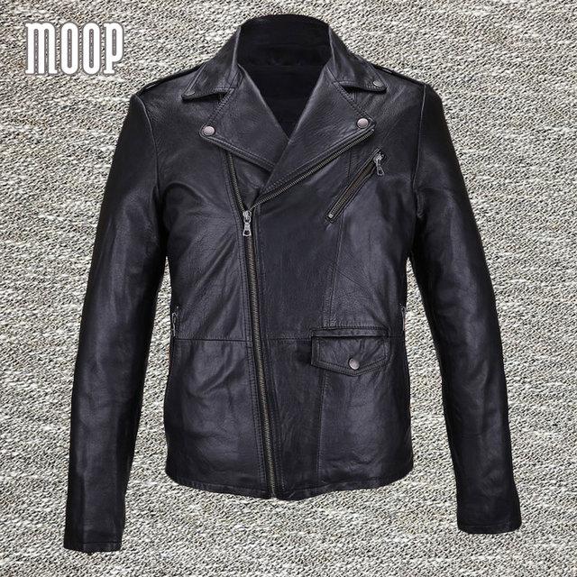 Black genuine leather coat men 100% lambskin jacket real leather motorcycle jacket manteau homme veste cuir homme LT847