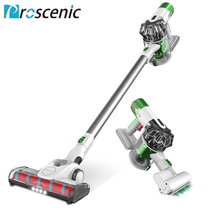 P9 Proscenic Aspirador Sem Fio 15000pa Poderosa Sucção Vara Diodo Emissor de Luz Handheld Portátil Vacuum 2 em 1