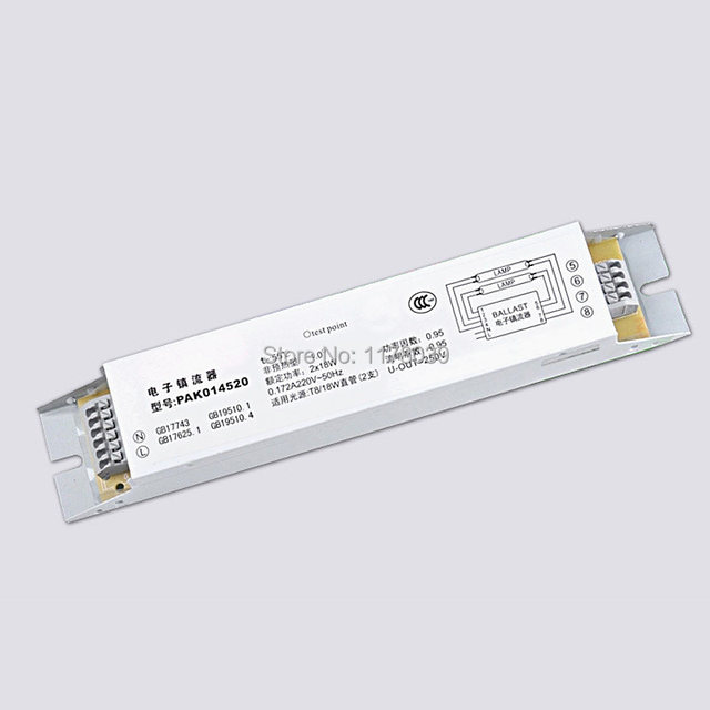 AC220V T8 Electronic Ballast,Fluorescent Lamp Ballasts,2X18W T8 Ballast,Free  Shipping J16705
