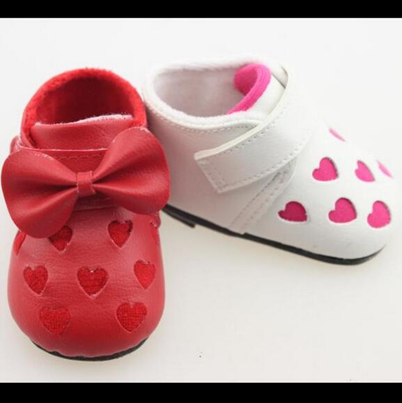 Lovely Shoes for 18 High Quality 50-55cm Reborn Babies Doll lifelike Baby Toy Children Silicone Brinquedos