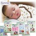 Новорожденный Parisarc 100% Хлопок Мягкие Детские Sleepsack Пеленать Летом Обертывание Одеяло и Пеленание Конверт Мешок Сна S/L Размер