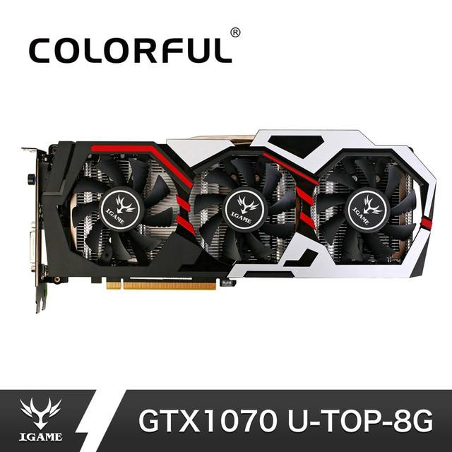 NVIDIA GeForce iGame GTX1070 8 GB GPU GDDR5 256bit PCI-E VR GTX 1070 Computer Gaming tarjeta gráfica de vídeo para PC PUBG