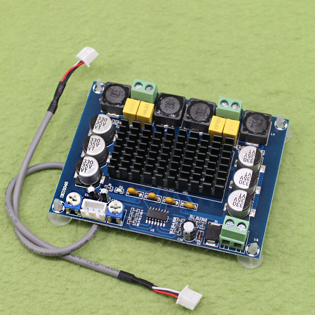 Free Shipping NEW XH-M543 Module High Power Digital Power Amplifier Board TPA3116D2 Audio Amplifier Module Dual Channel 2*120W