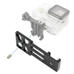 BGNING mejorado CNC aluminio 20mm montaje de carril lateral para GoPro Xiaoyi Gitup Cámara de Acción Color negro opcional