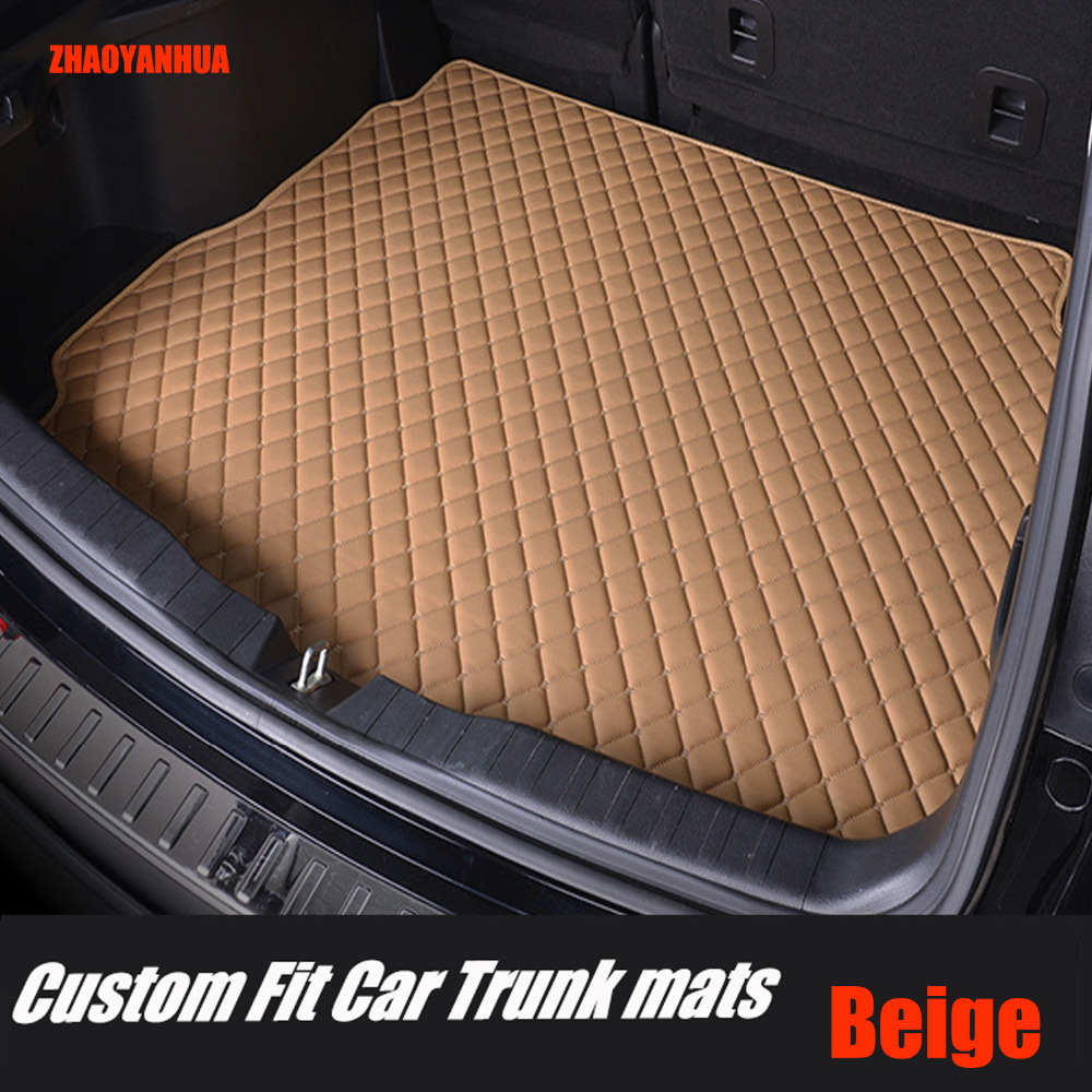 ZHAOYANHUA Car Trunk Mats For Mercedes Benz A C W204 W205 E W211 W212 W213 S Class CLA GLC ML GLE GL Rug Car-styling Liners