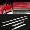 ABS Хромированная Автомобильная Боковая дверь защита корпуса литьевая крышка отделка 4 шт./компл. Подходит для AUDI Q2 2017 2018 2019