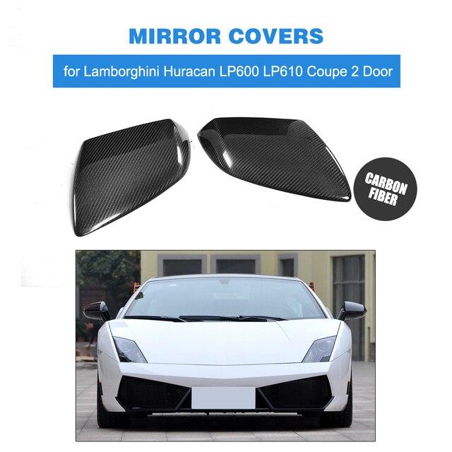 Carbon Fiber Rearview Mirror Cap Covers Trim For Lamborghini Huracan