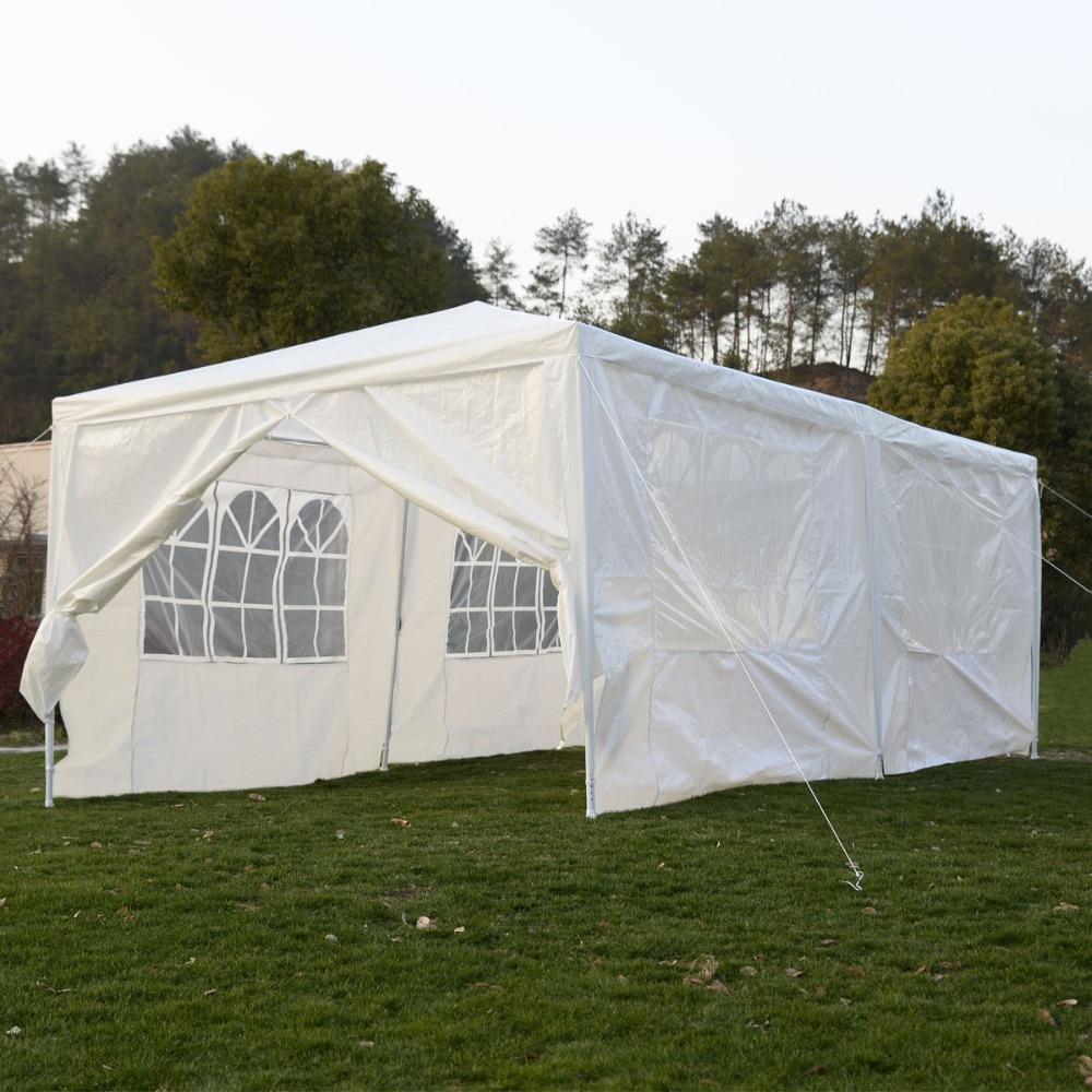 Wedding Tent 10u0027x20u0027 Canopy Party Outdoor Gazebo Event Patio 4 Sidewall 2  Door AP2015WH*FDS