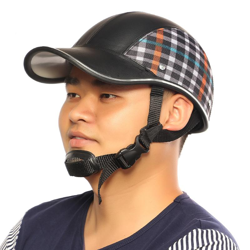 baseball hat style motorcycle helmet cap under motor safety hard anti
