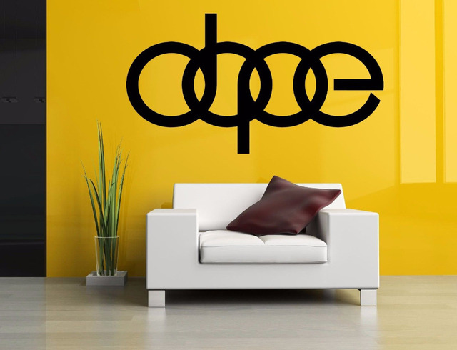 Dope Word Sign Wall Room Decor Vinyl Removable Art Sticker Mural