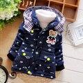 Мальчики зимняя Куртка пальто Детей верхняя одежда зимний стиль мальчиков теплый мультфильм одежды пальто для 0-3 лет