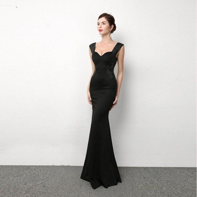 New Fashion Kualitas Tinggi Womens Jauh V Neck Sexy Dress Panjang
